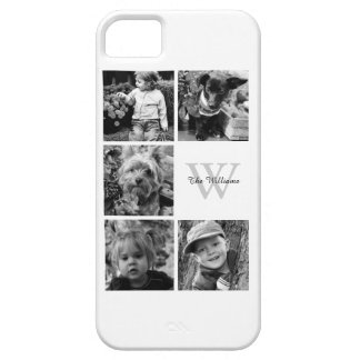 Monogrammed Photo Collage Barely There iPhone 5 Case