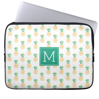 Monogrammed Pineapples Pattern Laptop Sleeve