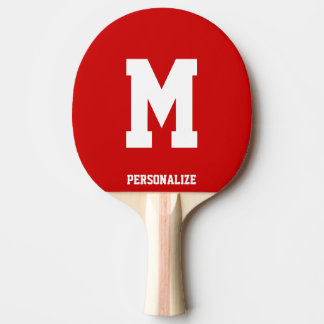 Monogrammed ping pong paddle for table tennis