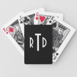 Monogrammed Playing Cards Bicycle Playing Cards