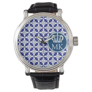 Monogrammed Polycross Royal Blue Watch