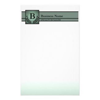 monogrammed professional stationery