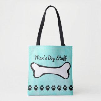 Monogrammed Puppy Dog Bone Tote Bag