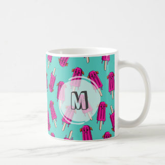 "Monogrammed ""Pupsicle"" Pattern Coffee Mug"