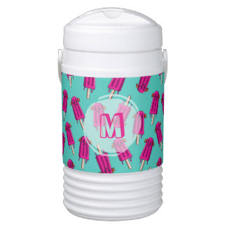 """Monogrammed """"Pupsicle"""" Pattern Drinks Cooler"""