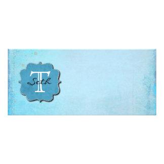 Monogrammed Rack Card Design