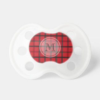 Monogrammed Red and Black Tartan Plaid Dummy