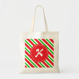 Monogrammed Red and Green Stripes Pattern