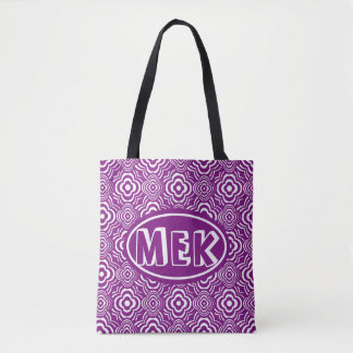 Monogrammed RO Purple Peddler Tote Bag