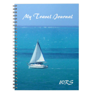 Monogrammed Sailing Travel Journal Note Books