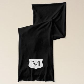 Monogrammed scarves for men
