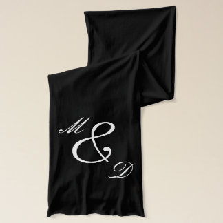 Monogrammed scarves for men and women