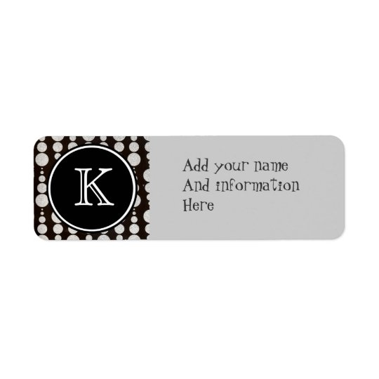 Monogrammed Silver Circle Return Address Label