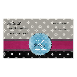 Monogrammed Silver Star Business Cards