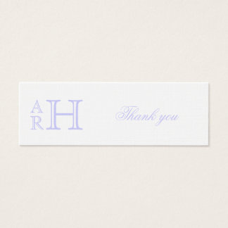Monogrammed Starfish Thank You Favor Tags Mini Business Card