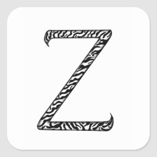 Monogrammed stickers Initial Z