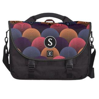 Monogrammed Striped Petals Rickshaw Laptop Bag