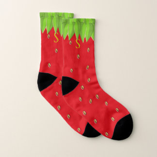 Monogrammed Summer Strawberry Socks 1