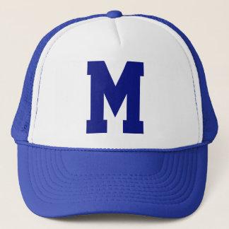 Monogrammed Superstar Blue Trucker Hat
