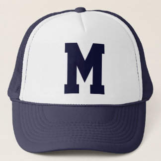 Monogrammed Superstar Navy Blue Trucker Hat