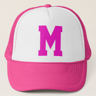 Monogrammed Superstar Pink Trucker Hat