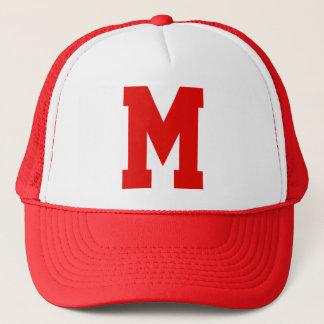 Monogrammed Superstar Red Trucker Hat