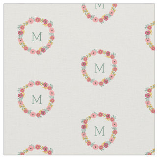 Monogrammed | Sweet Floral Fabric