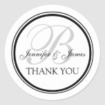 Monogrammed Thank You for Weddings