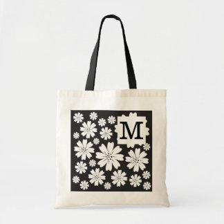 Monogrammed Tote Bags:Ditsy Flowers
