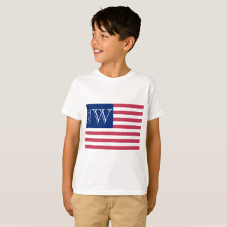 Monogrammed USA Flag T-Shirt