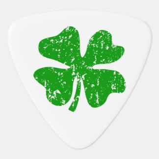 Monogrammed vintage four leaf clover guitar pick