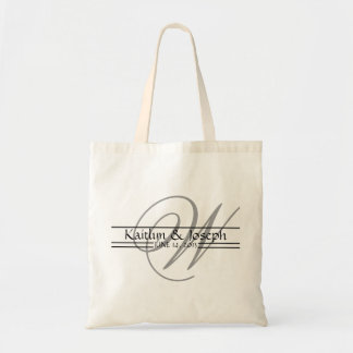 Monogrammed Wedding Reception Personalized Tote Bags