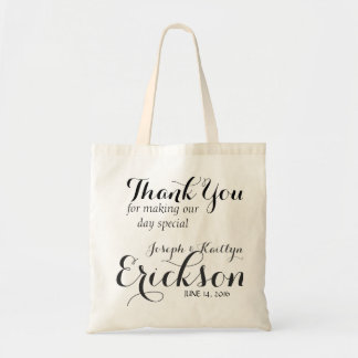 Monogrammed Wedding Reception Personalized Tote Budget Tote Bag