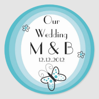 Monogrammed Wedding Stickers