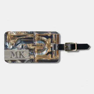 Monogrammed Wind Brass Instrument Euphonium Music Luggage Tag