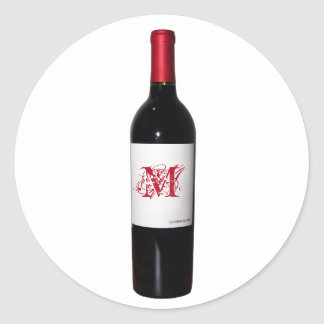 Monogrammed Wine Bottle Stickers