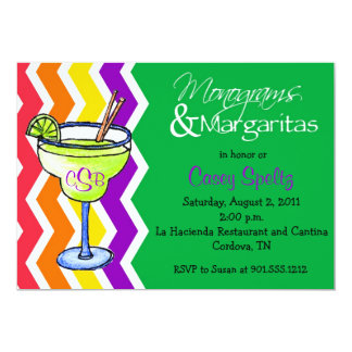 Monograms and Margaritas Invitation