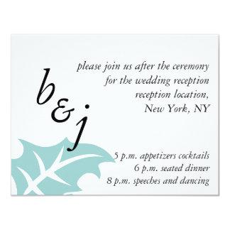 Monograms Blue Winter Wedding Reception Card 11 Cm X 14 Cm Invitation Card