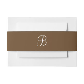 Monograms Otter Brown Invitation Belly Band