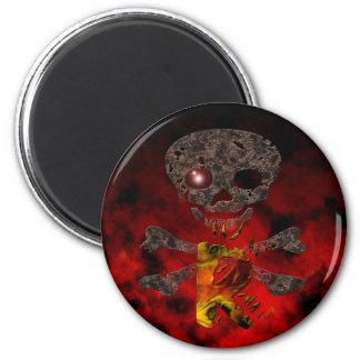 Monograms: Red Eye R 6 Cm Round Magnet
