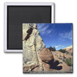 Monolithic chimney, Kodachrome State Park, Utah ro Square Magnet