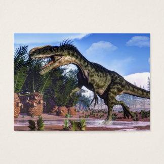 Monolophosaurus dinosaur - 3D render Business Card