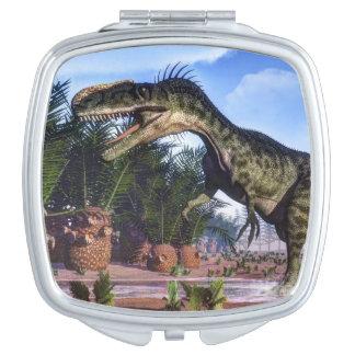 Monolophosaurus dinosaur - 3D render Compact Mirrors