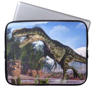 Monolophosaurus dinosaur - 3D render Laptop Sleeve