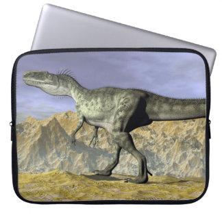 Monolophosaurus dinosaur in the desert - 3D render Laptop Sleeve