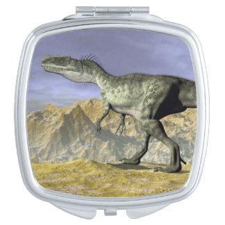 Monolophosaurus dinosaur in the desert - 3D render Vanity Mirrors