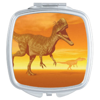 Monolophosaurus dinosaurs- 3D render Travel Mirror