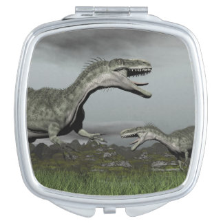 Monolophosaurus roaring - 3D render Mirror For Makeup