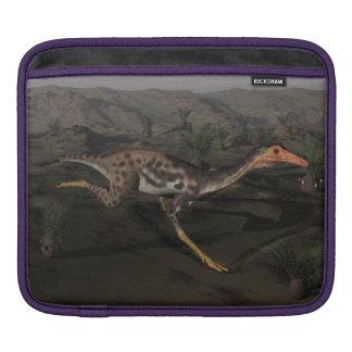 Mononykus dinosaur by night iPad sleeve