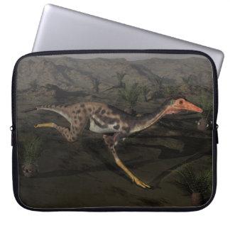 Mononykus dinosaur by night laptop sleeve